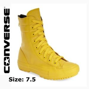 CONVERSE RARE YELLOW ALL RUBBER HIGH TOP RAIN BOOT